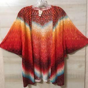 Chico's Size 2 Light Weight Tie Dye Kimono